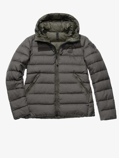 EMANUELE NYLON AND GABARDINE DOWN JACKET
