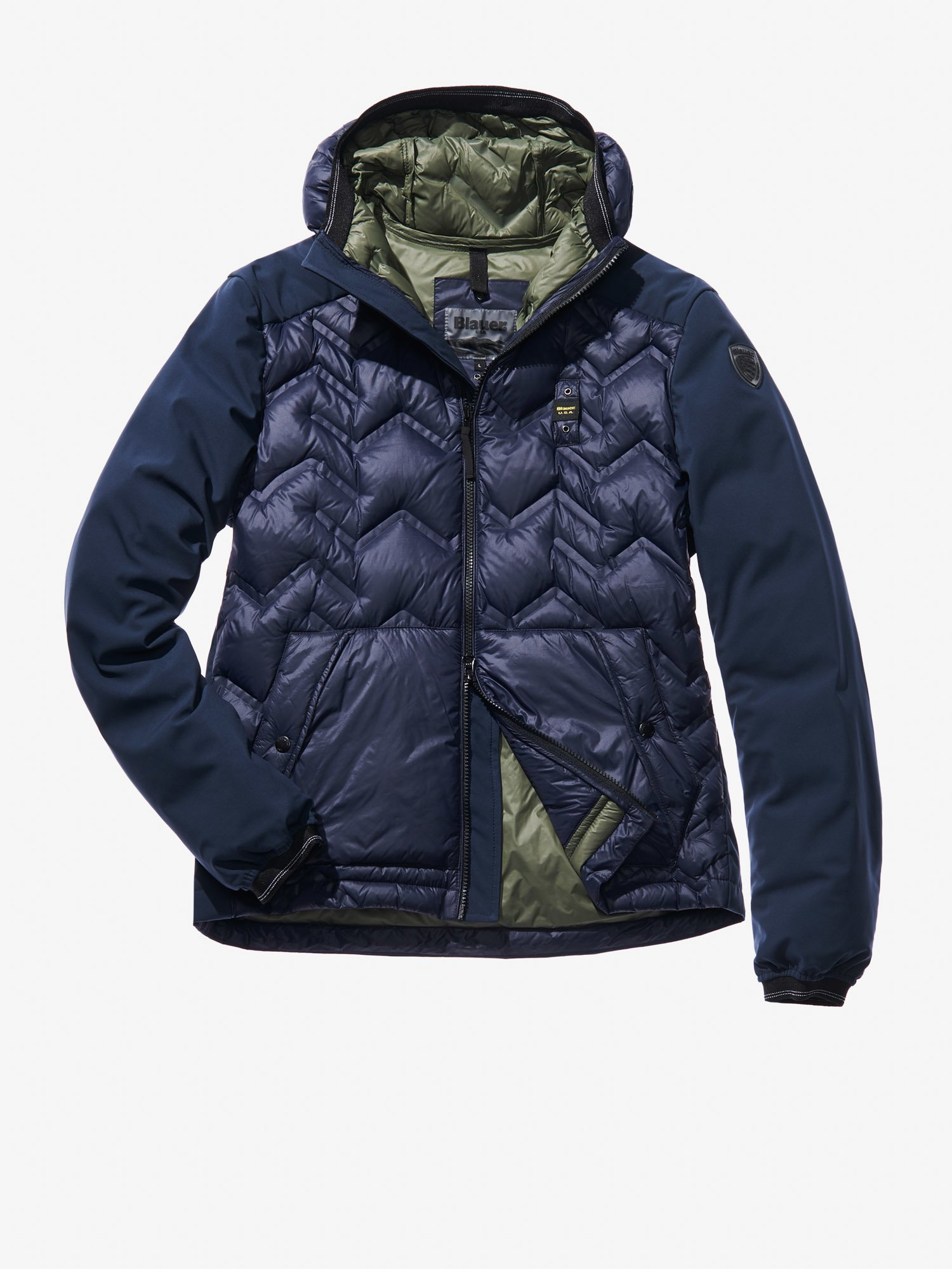 ALESSIO ZIG ZAG HEAT-SEALED DOWN JACKET - Blauer