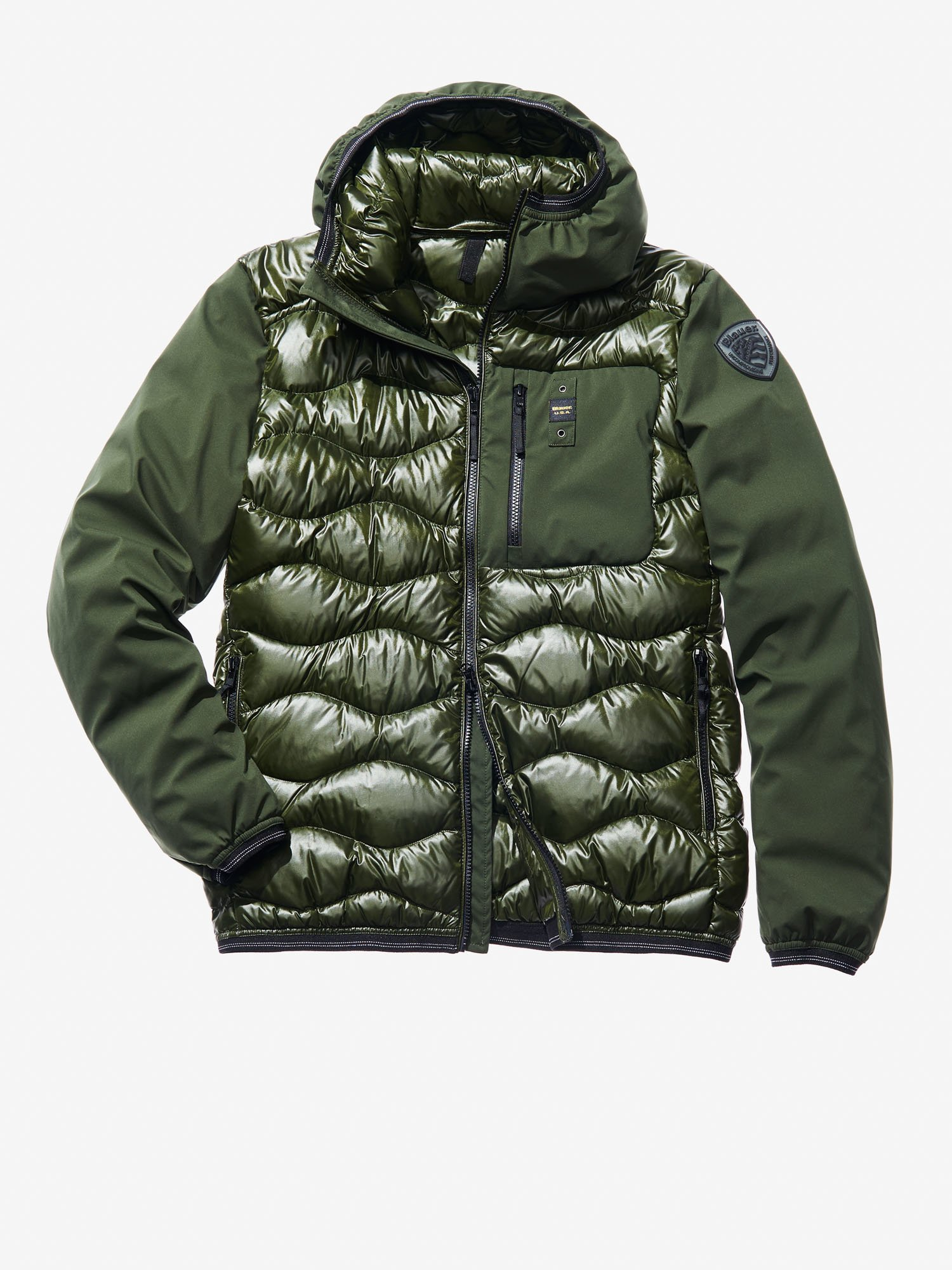 VINCENZO WAVE-QUILTED MICRO RIP DOWN JACKET - Blauer