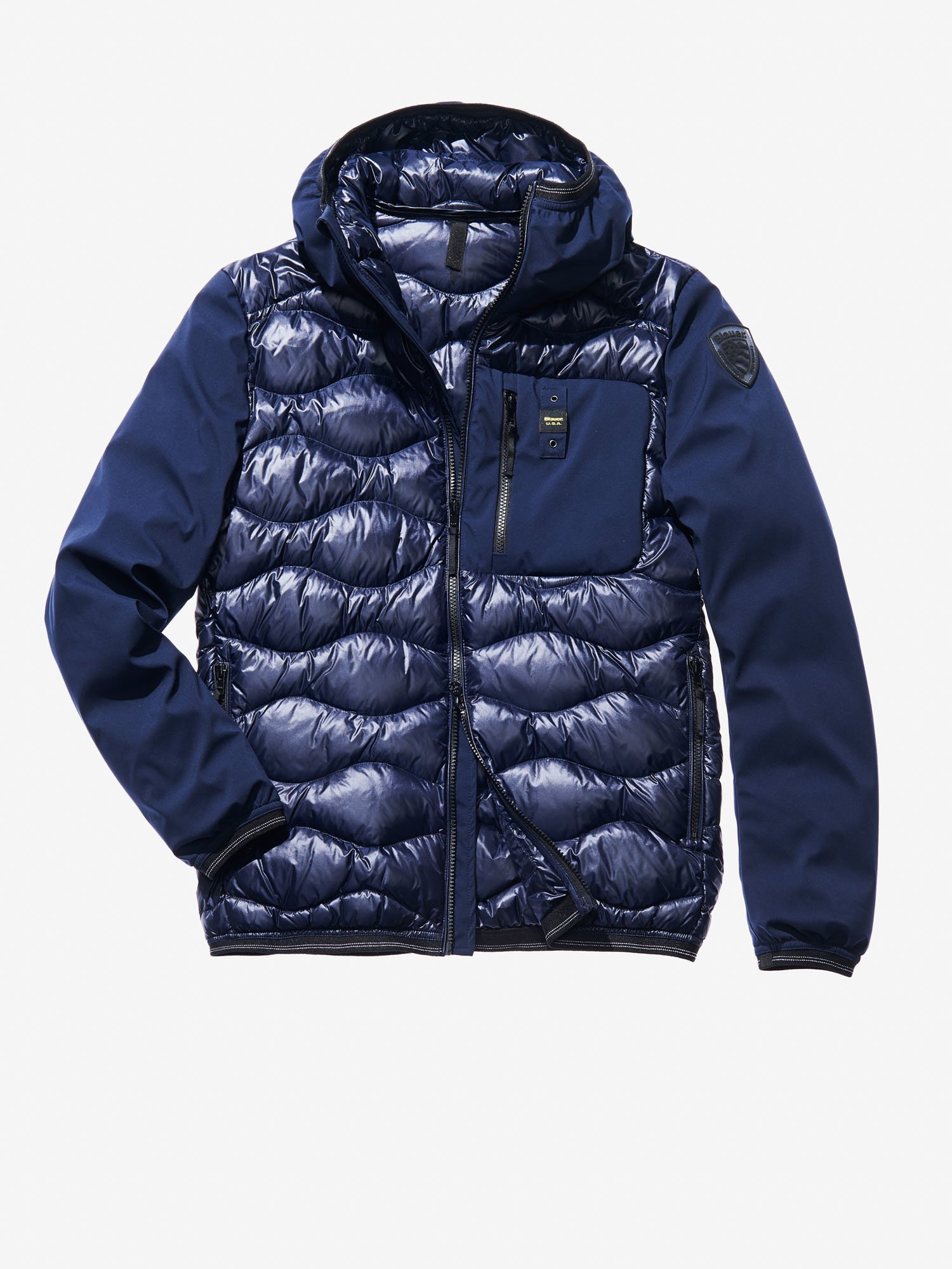 Blauer - VINCENZO WAVE-QUILTED MICRO RIP DOWN JACKET - blue - Blauer