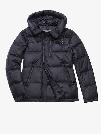 GIACOMO MATTE DOWN JACKET WITH ASYMMETRIC ZIP