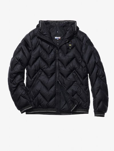 JACOPO ZIG ZAG-QUILTED MILITARY-STYLE DOWN JACKET