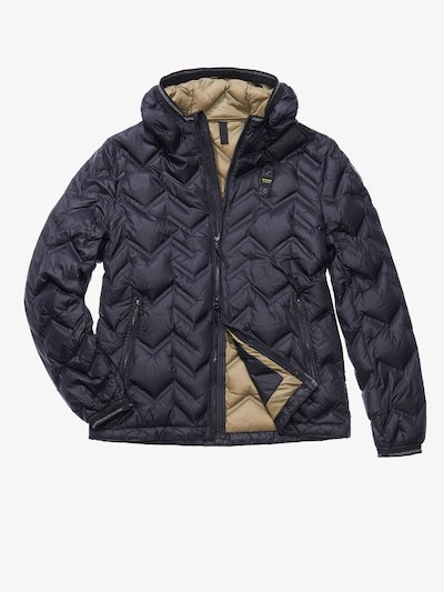 GIULIO ZIG ZAG-QUILTED JACKET WITH DUCK DOWN FILL