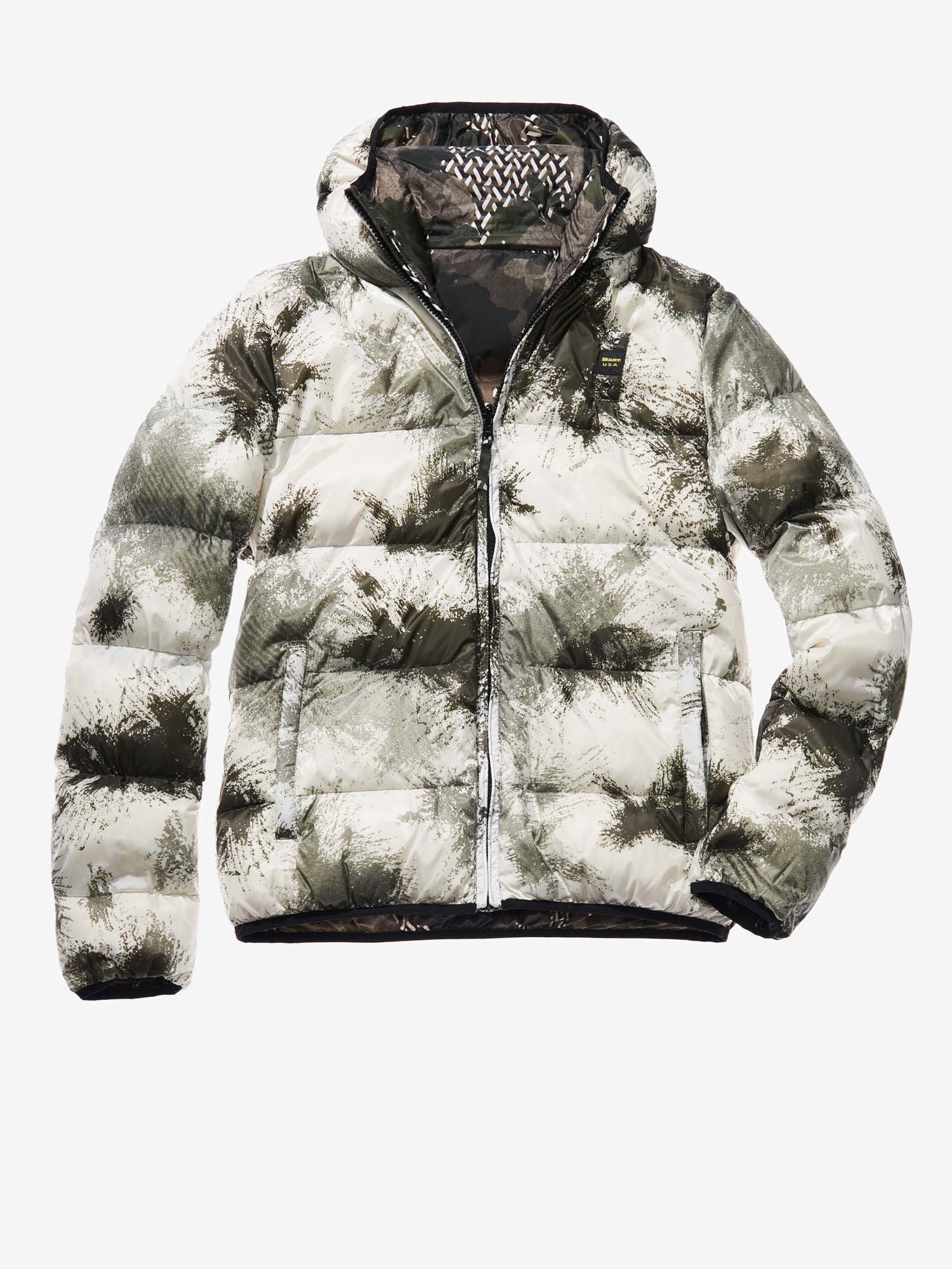 MARCO CAMOUFLAGE REVERSIBLE DOWN JACKET - Blauer