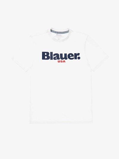 CARBON WASHED BLAUER USA T-SHIRT