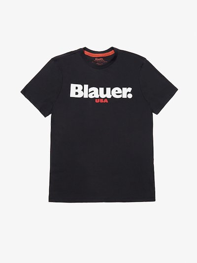 CARBON WASHED BLAUER USA T-SHIRT