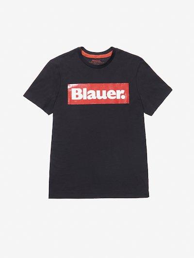 BLAUER RECTANGULAR PRINT T-SHIRT