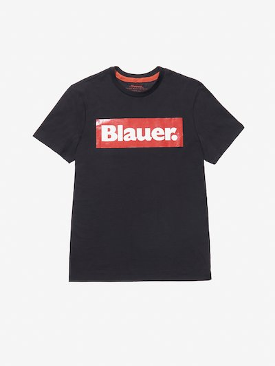 BLAUER RECTANGULAR PRINT T-SHIRT