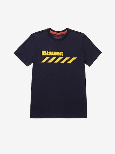 T-SHIRT STAMPA STRISCE FLUO__