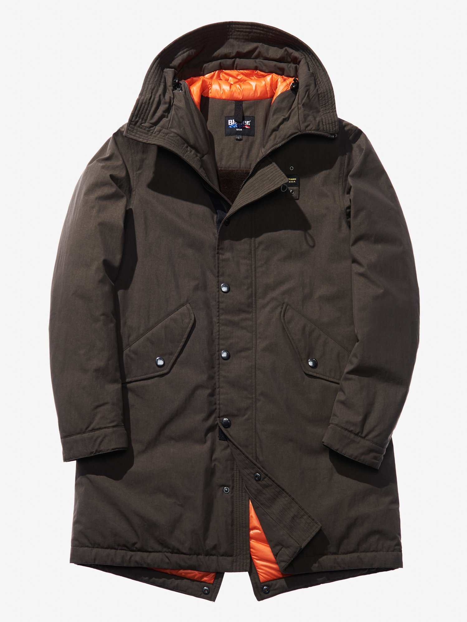 GUIDO GABARDINE HOODED PARKA - Blauer
