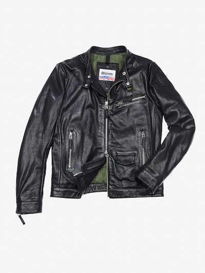 ALBERTO PADDED LEATHER BIKER JACKET