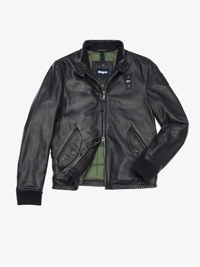 RAFFAELE LEATHER BOMBER JACKET