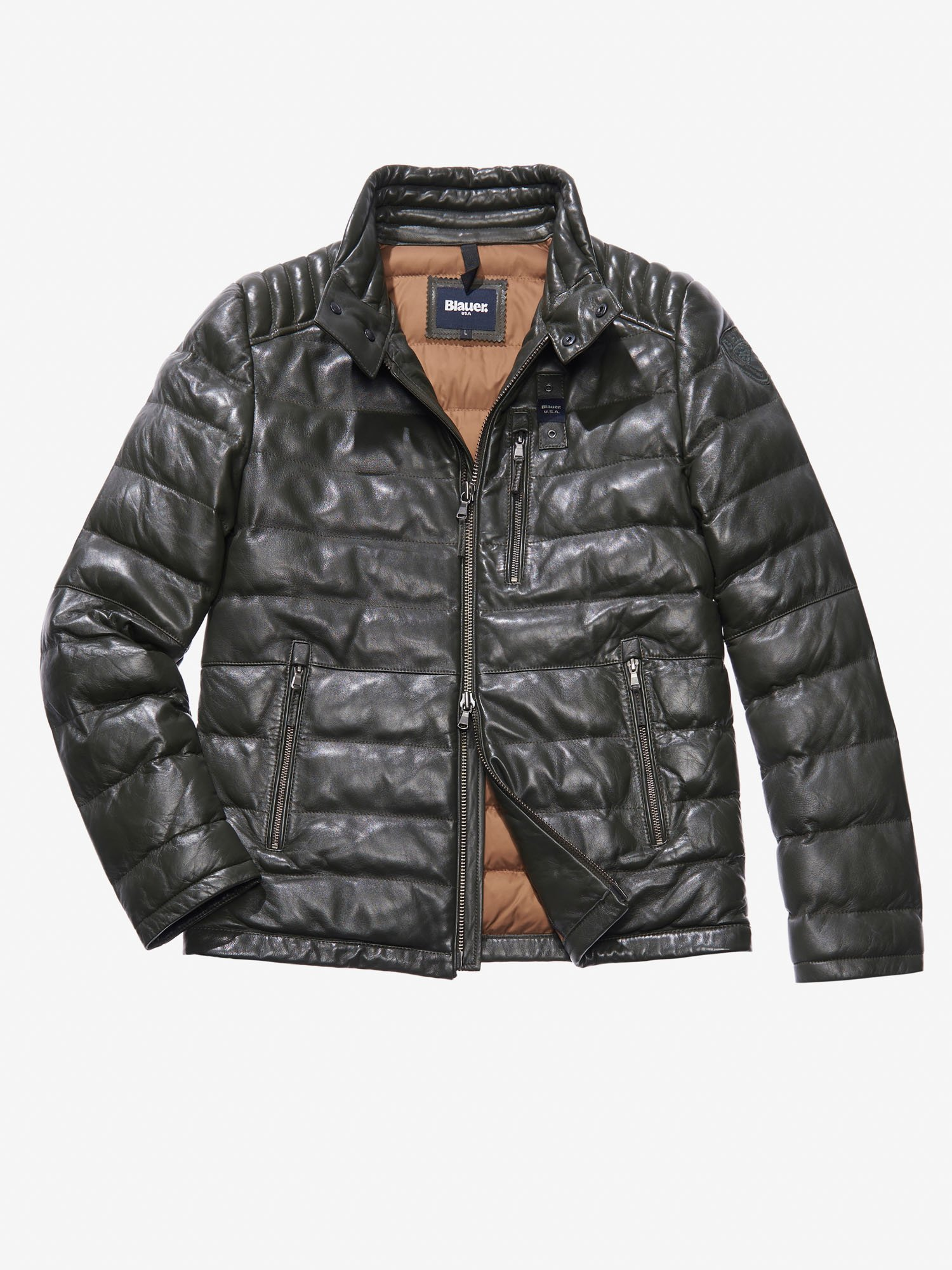 Uomo Usa E Giacche Q7tcn Pelle Giubbotti ® Blauer Di Online Shop 8n0OywNvm