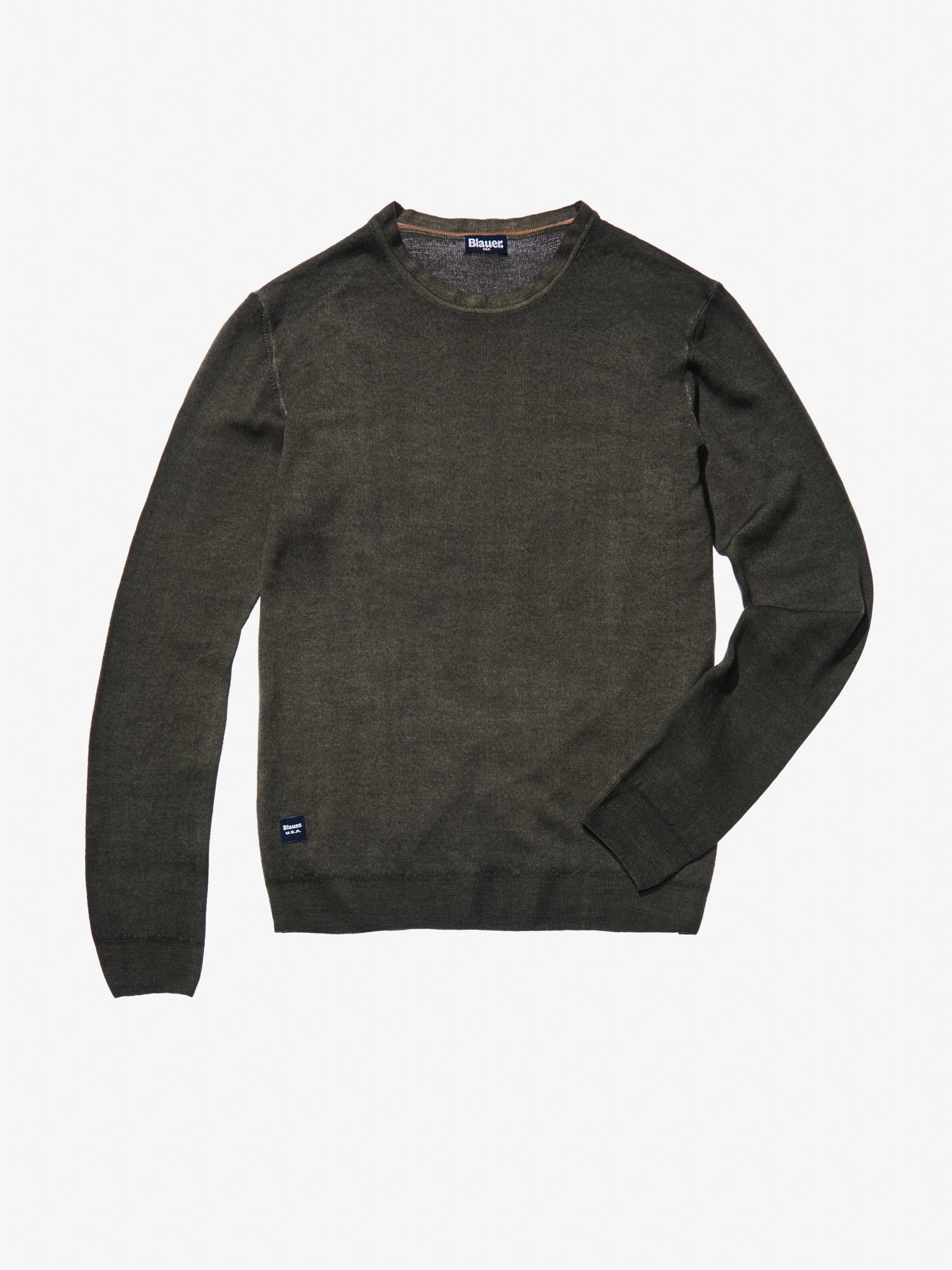 CREW NECK WOOL SWEATER - Blauer