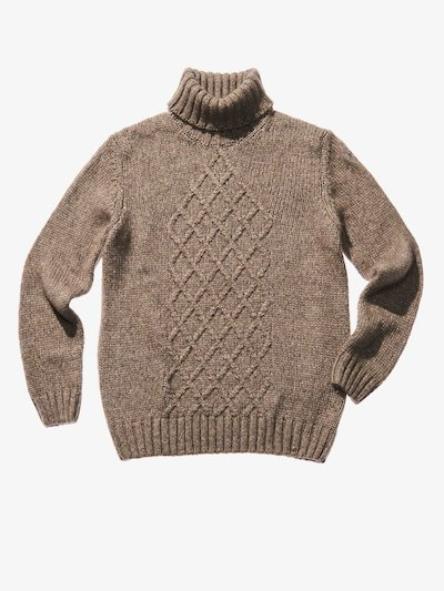 WOOL COTTON TURTLENECK