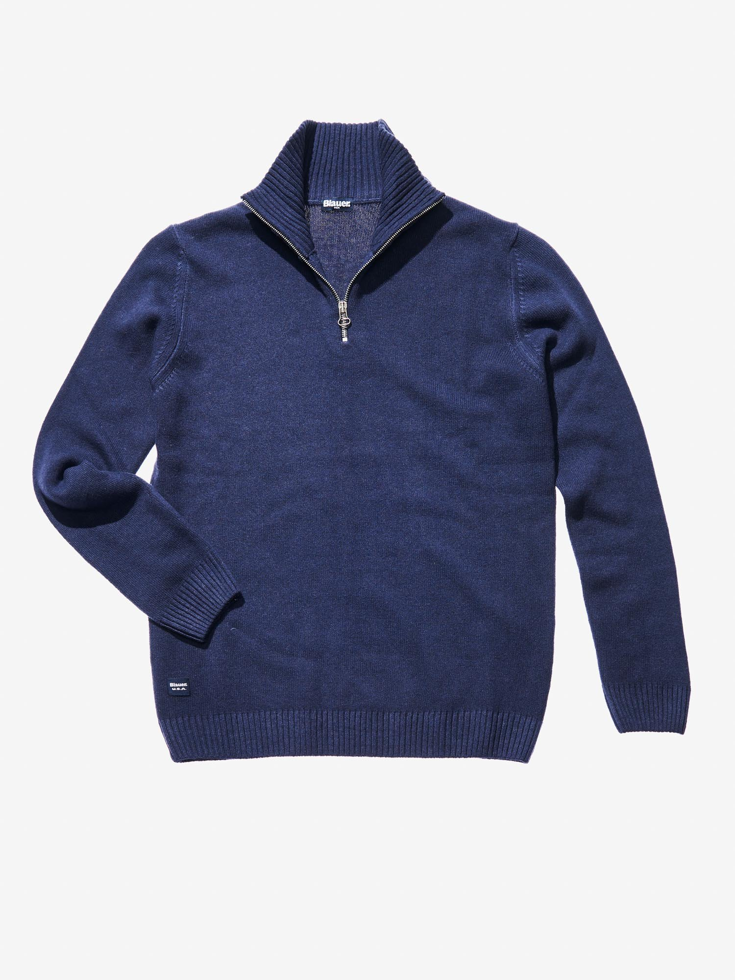 HIGH NECK SWEATER WITH ZIP - Blauer