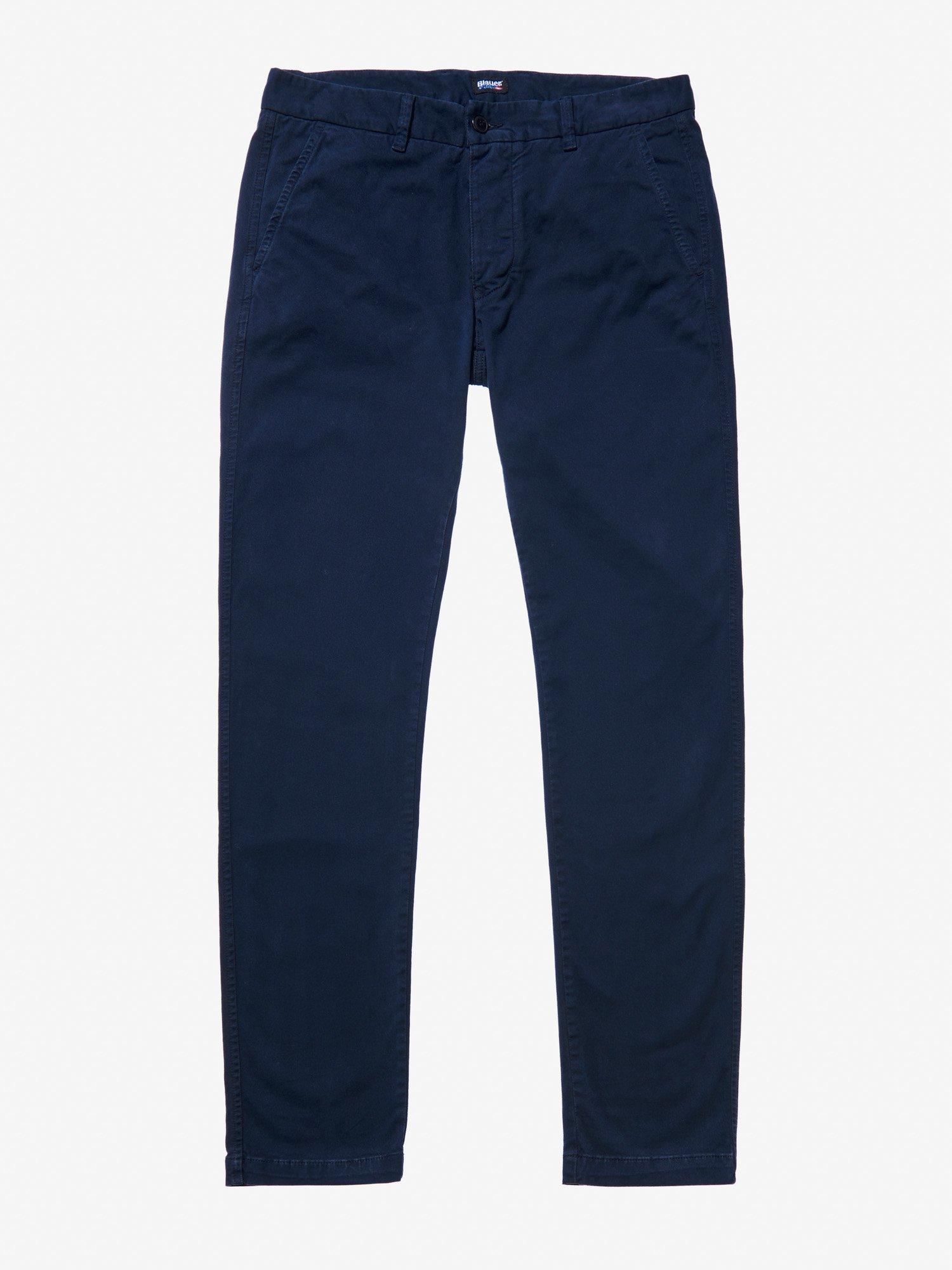 Blauer - GABARDINE CHINO PANTS - blue - Blauer