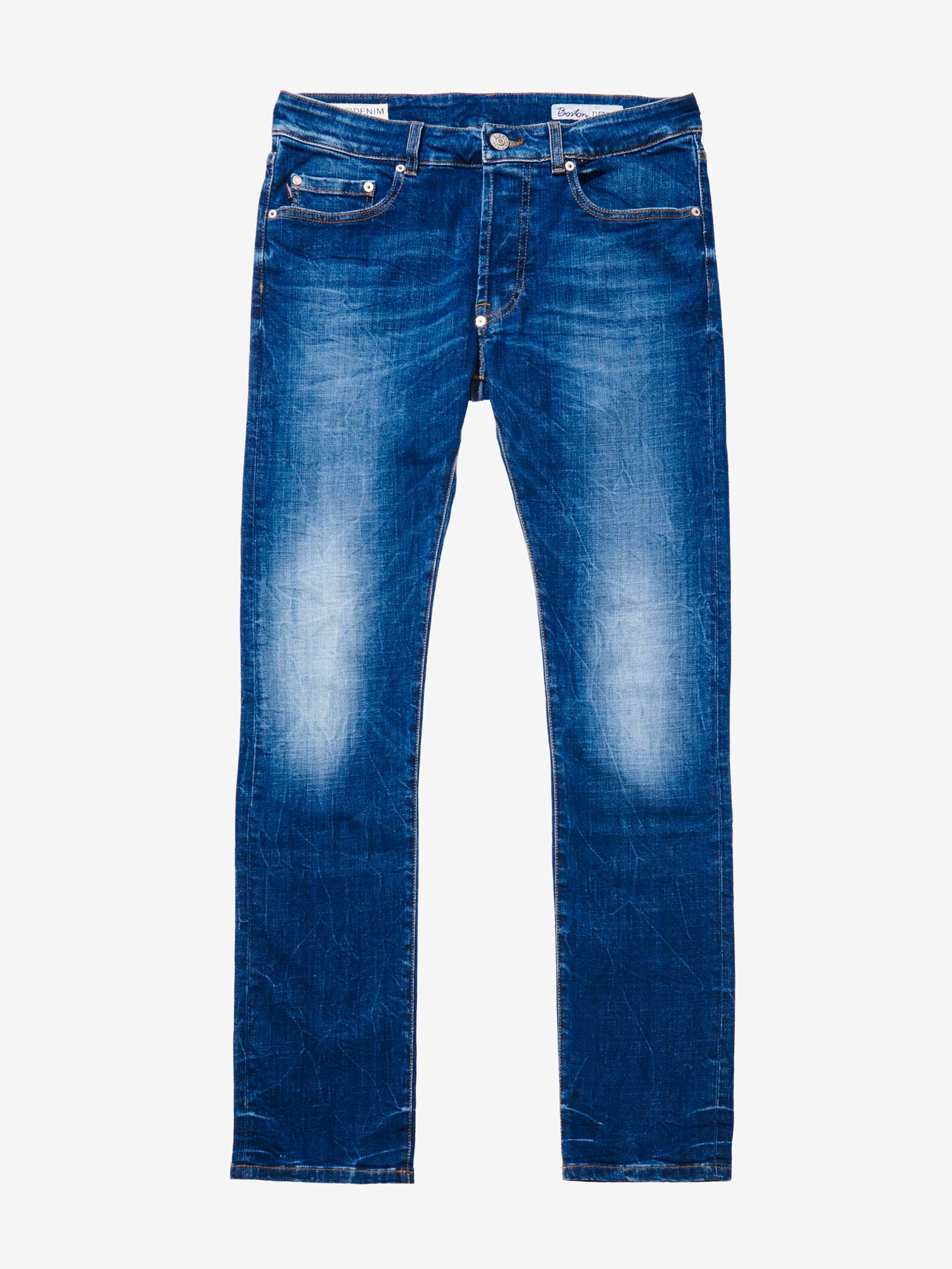 DENIMHOSE BOOT CUT STONE WASHED - Blauer