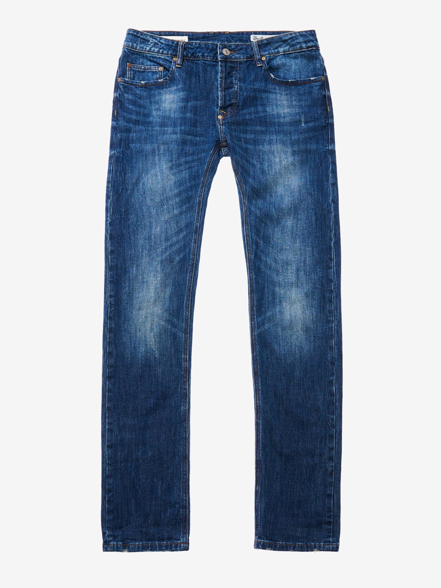 e3d844d342 Blauer - STONE WASHED 5-POCKET DENIM - Stone Washed - Blauer