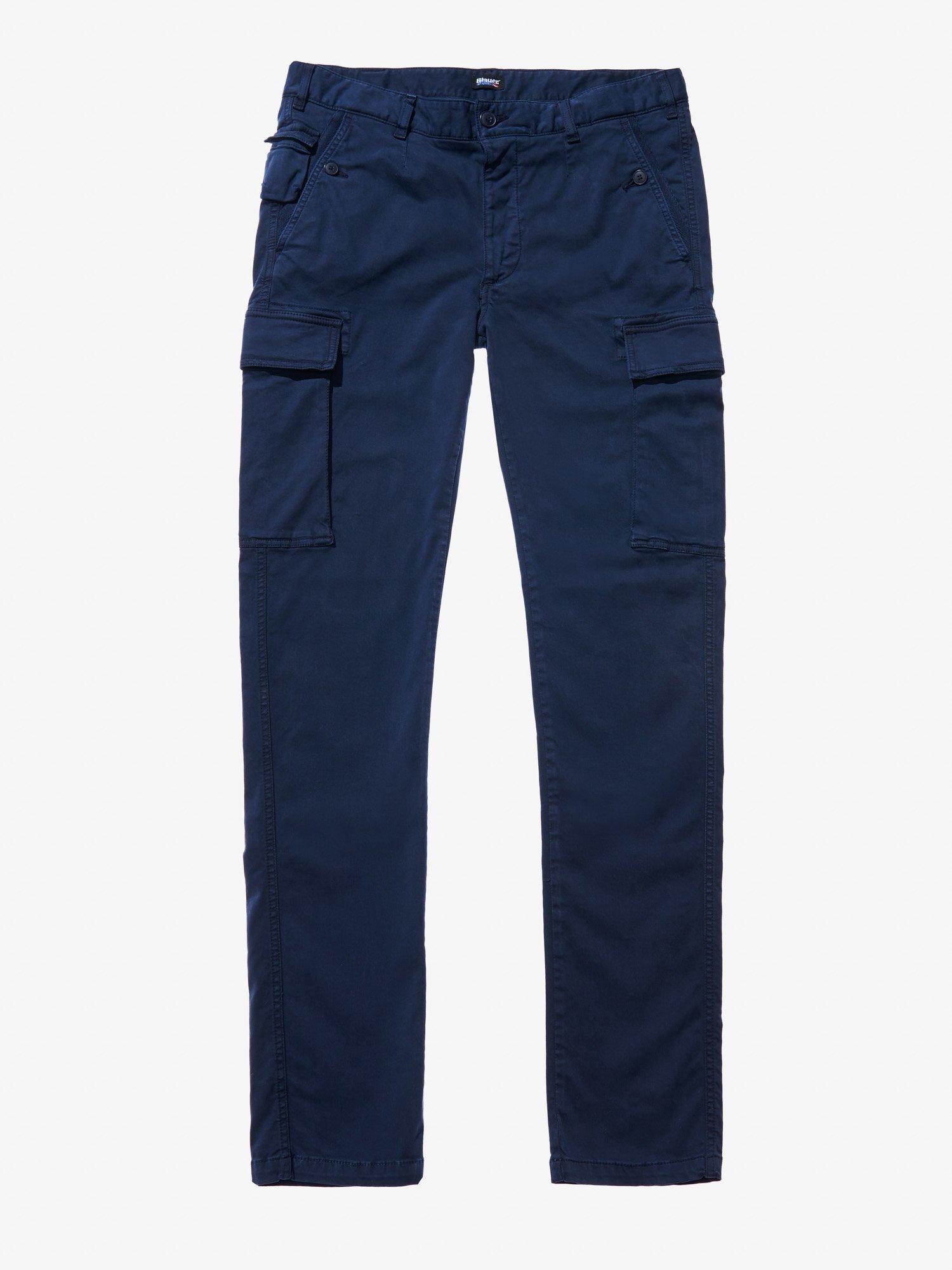 Blauer - CARGO PANTS - blue - Blauer