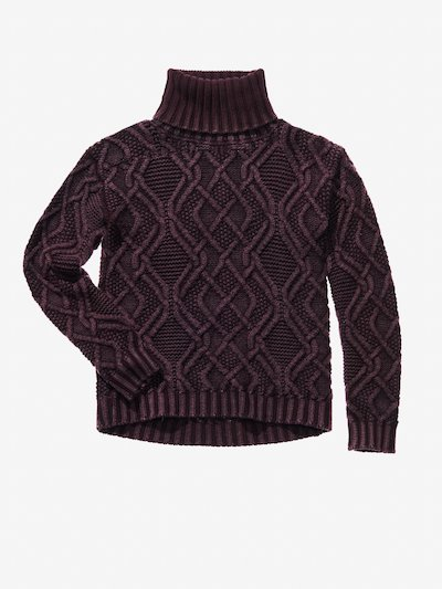 TURTLENECK CHUNKY CABLE KNIT JUMPER