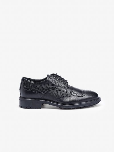 BROGUE SHOES IN BLACK LEATHER