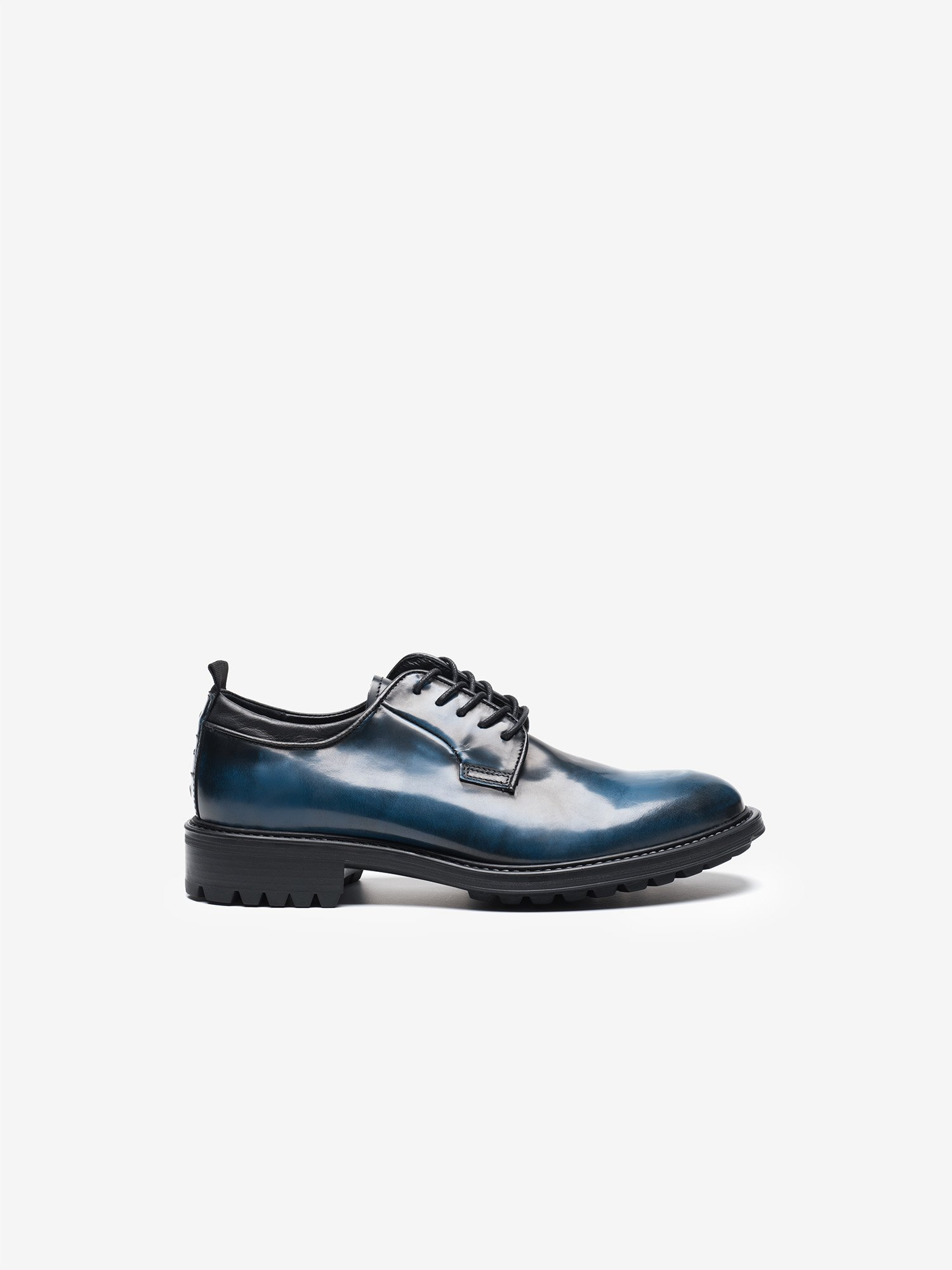 Blauer - LACE UP SHINY DERBY SHOES - Infinity Blue - Blauer