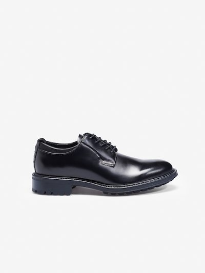 LACE UP SHINY DERBY SHOES__