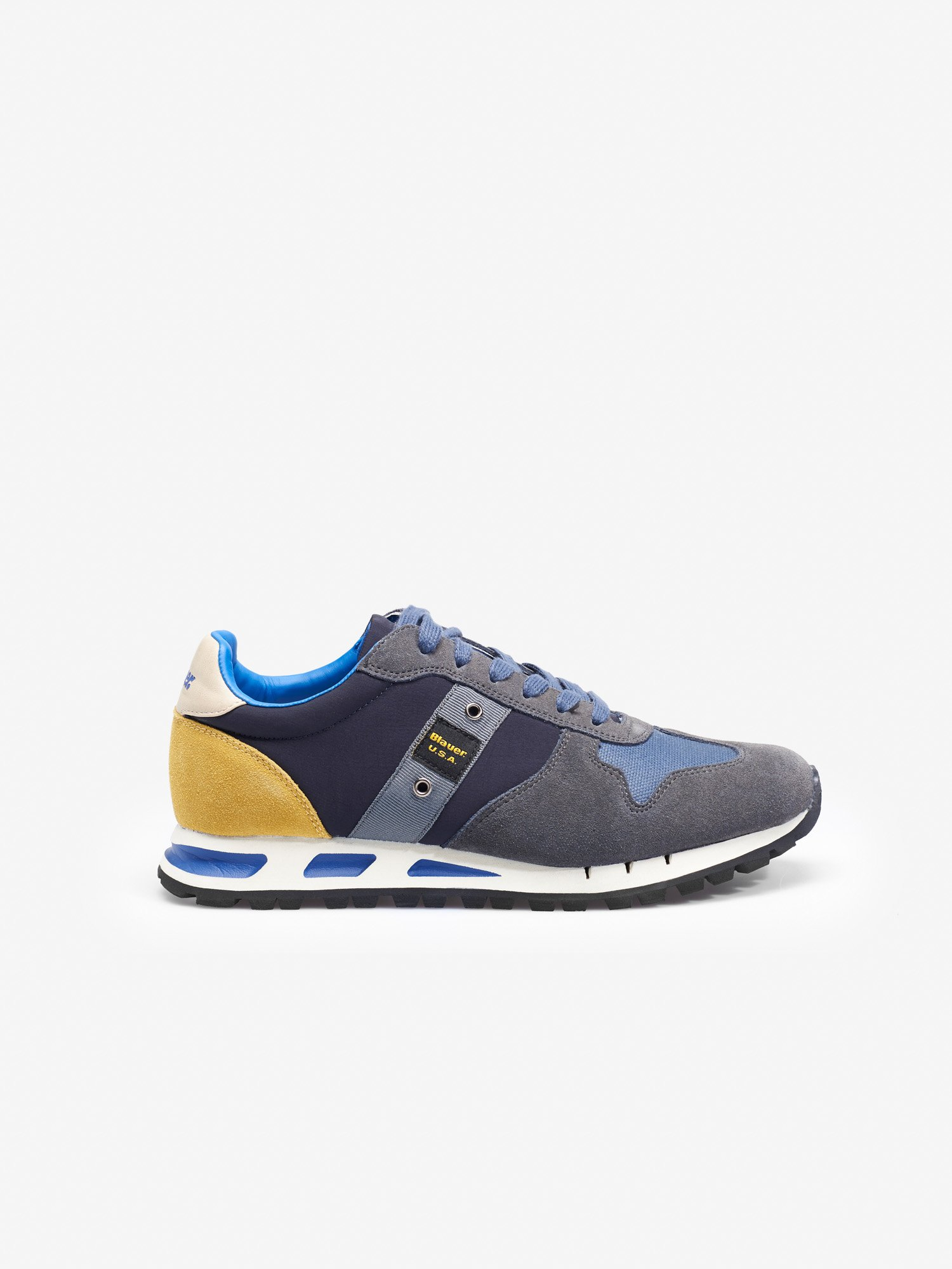 MUSTANG SUEDE TRAINERS - Blauer
