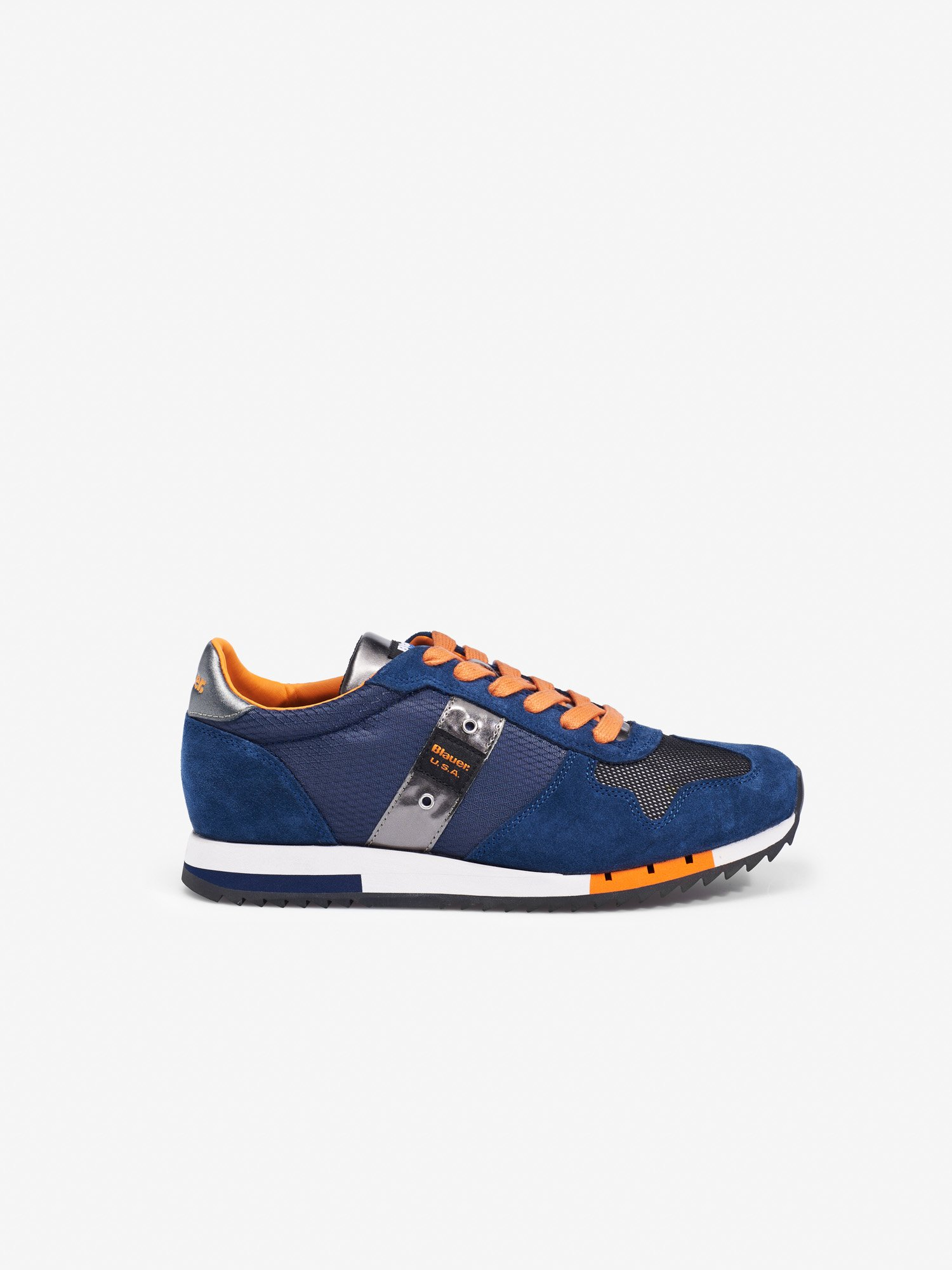 Blauer - QUINCY CAMOUFLAGE TRAINERS - Baltic Sea - Blauer
