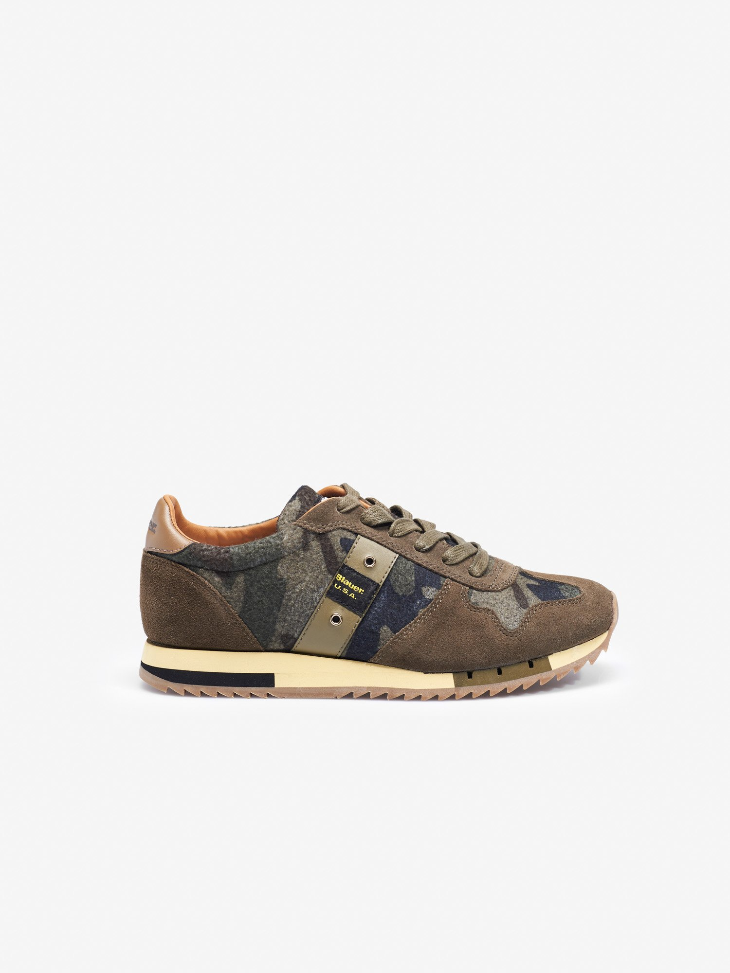 Blauer - QUINCY MILITARY SNEAKER LOW - Waldgrün - Blauer