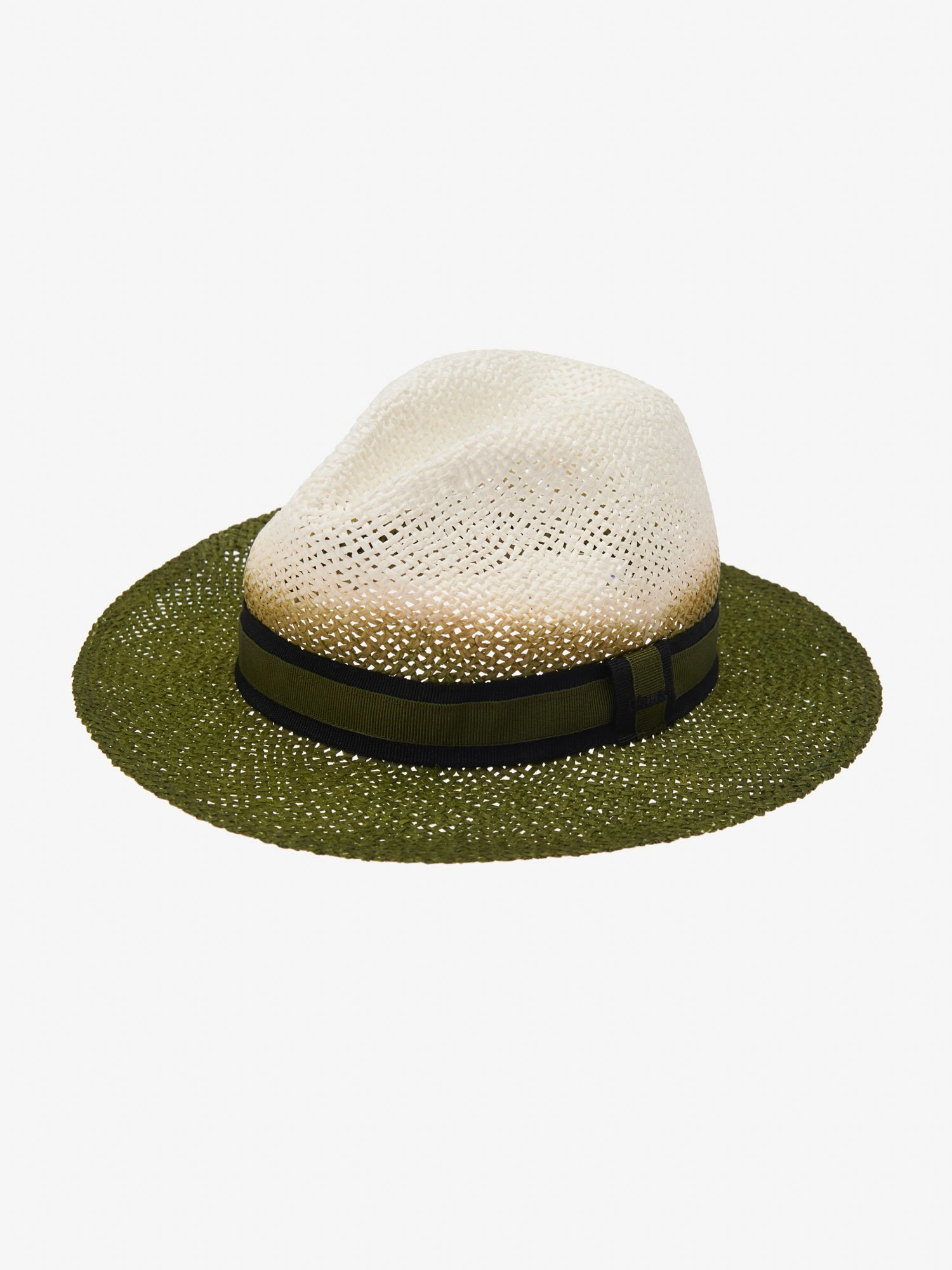 Blauer - PANAMA HAT IN BICOLOR PAPER - Dusty Green - Blauer