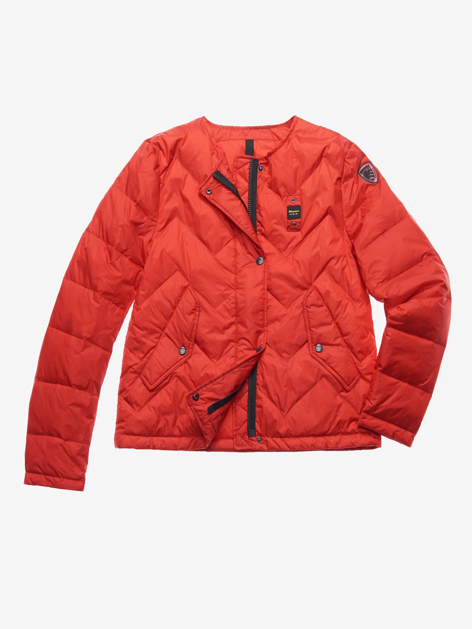 Blauer - BROOKS ZIG ZAG DOWN JACKET - Red Ginger - Blauer