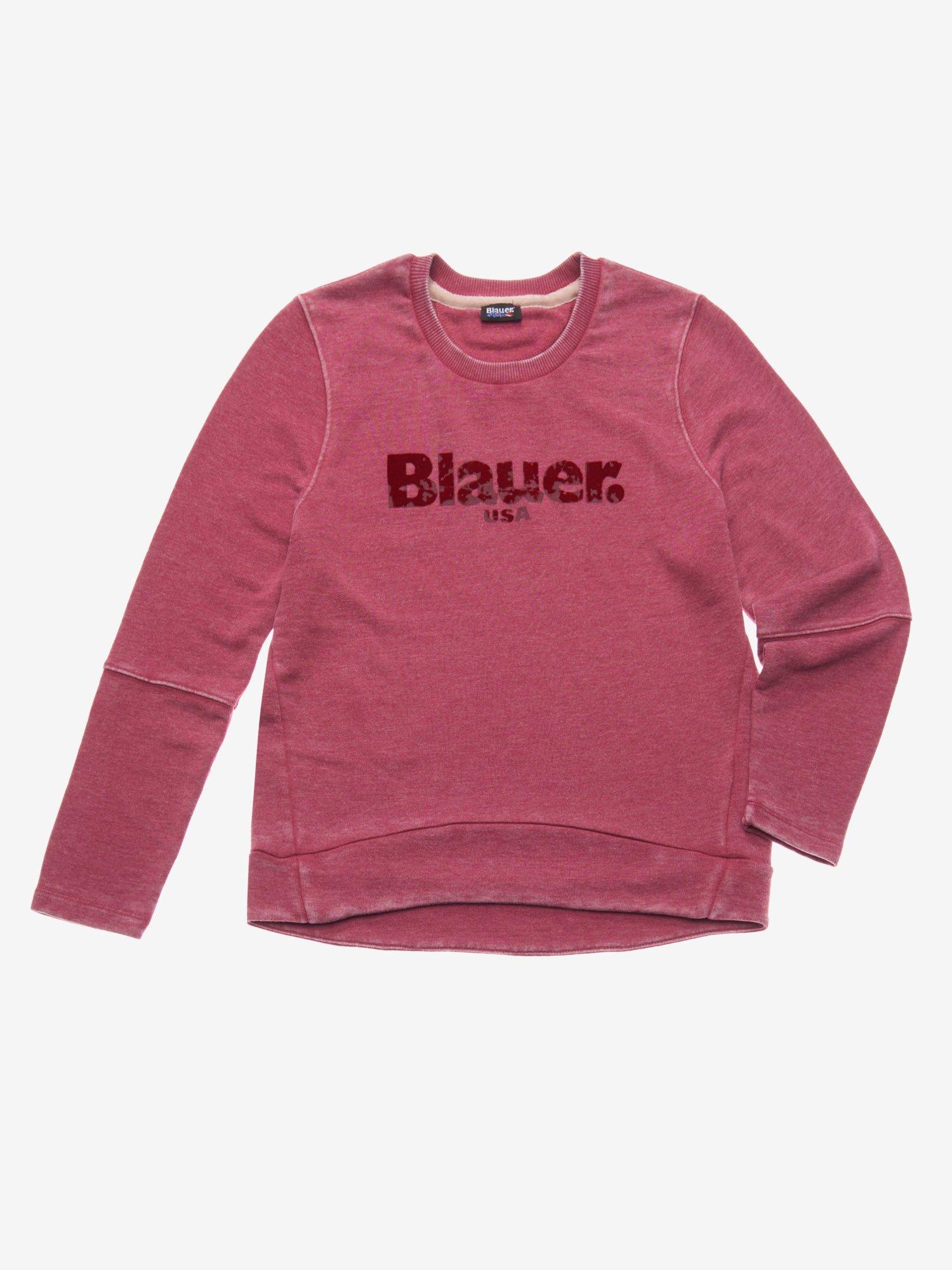 Blauer - BURNOUT CREW NECK SWEATSHIRT - Malbec - Blauer