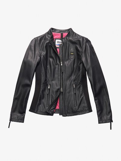 TAYLOR LEATHER BIKER-STYLE JACKET
