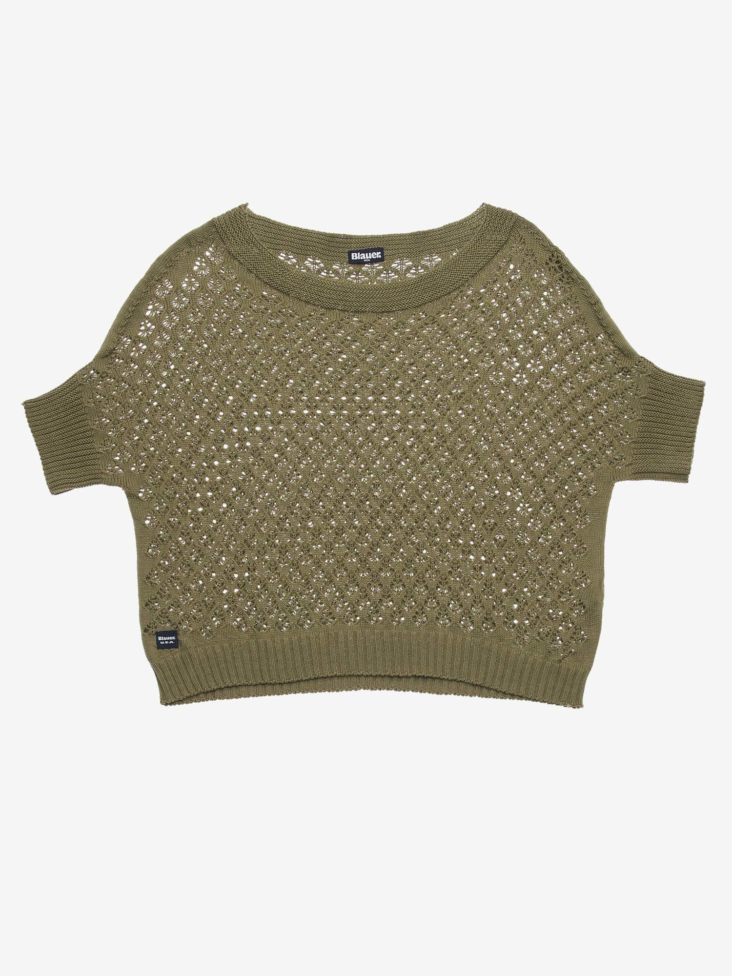 SHORT LACE-EFFECT SWEATER - Blauer