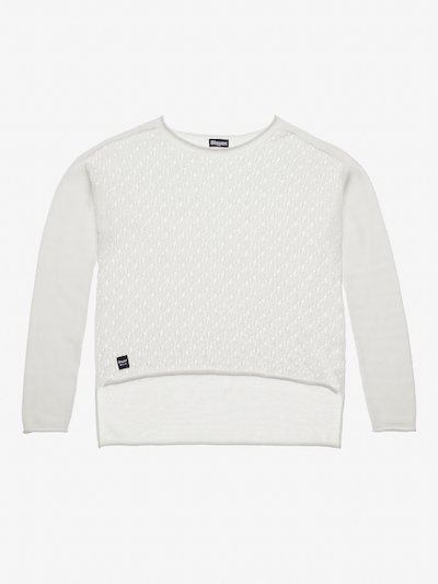 SWEATER WITH OPEN KNIT IN FRONT