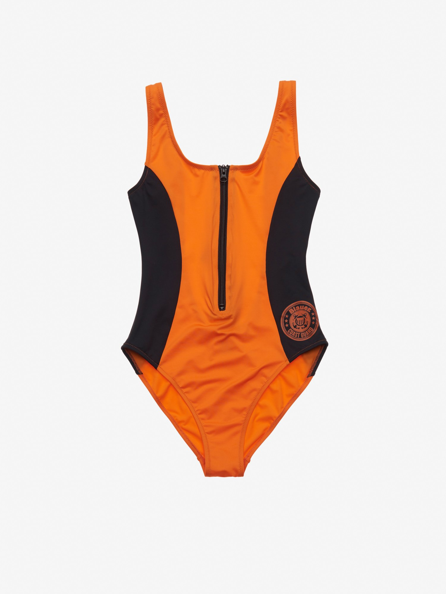 ONE-PIECE BAYWATCH STYLE SWIMSUIT - Blauer