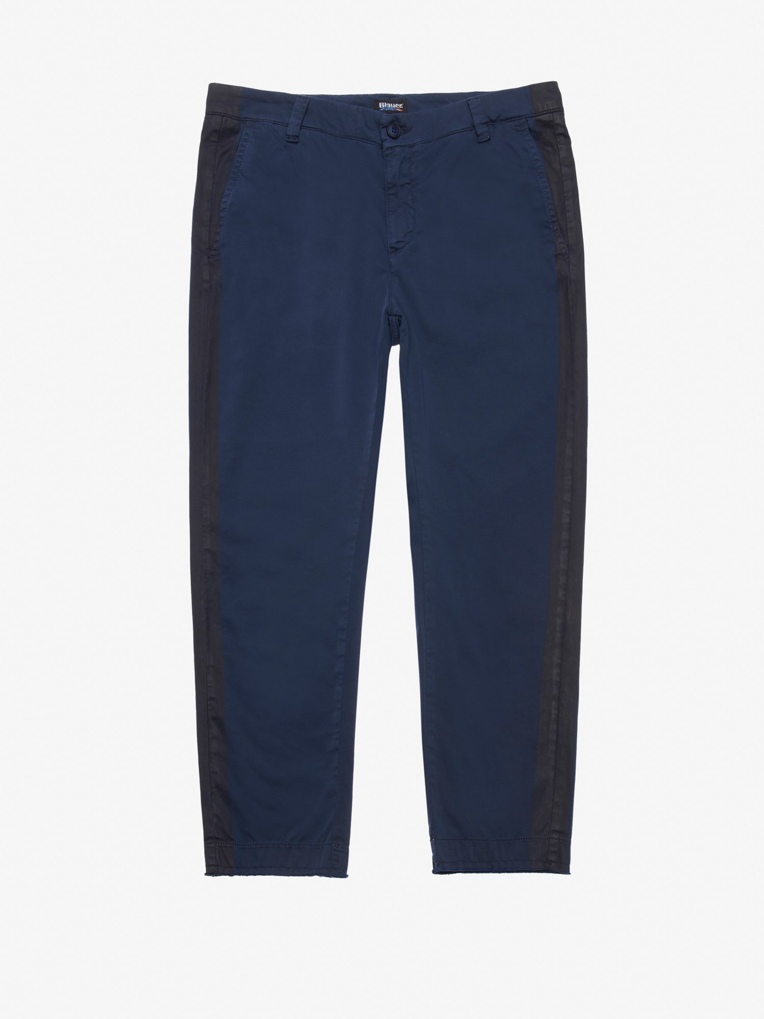 Blauer - SATIN STRETCH TROUSERS - Blue Ink - Blauer