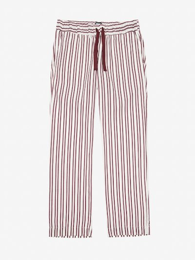 STRIPED POPLIN TROUSERS