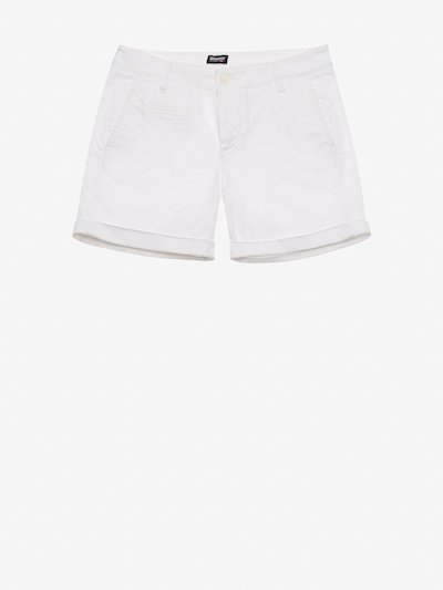 STRETCH COTTON SATIN SHORTS