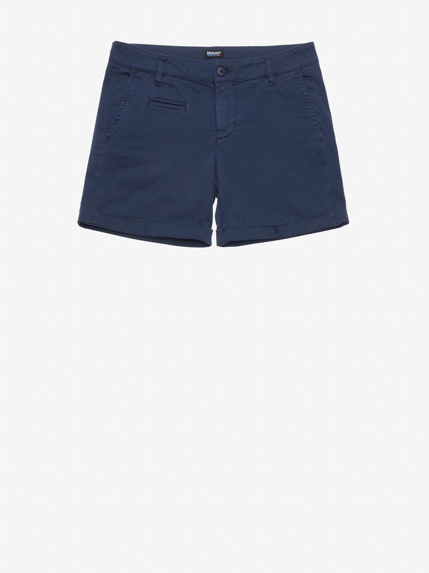Blauer - STRETCH COTTON SATIN SHORTS - Blue Ink - Blauer