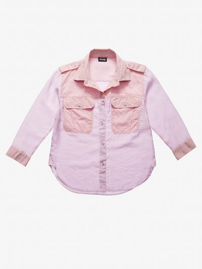 WOMEN'S TONE-ON-TONE BICOLOUR SHIRT