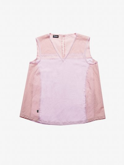 BICOLOUR SLEEVELESS SHIRT