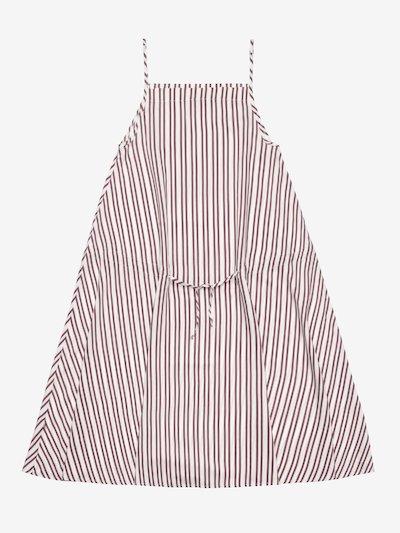 STRIPED DRESS WITH NARROW STRAPS