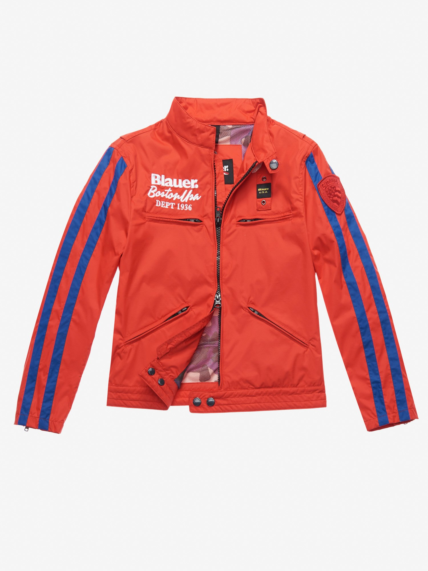 Blauer - EDWARDS MICRO RIP-STOP LINED JACKET - Red Ginger - Blauer