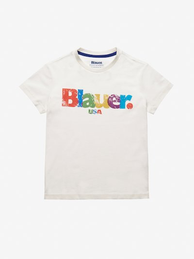 JUNIOR MULTICOLOR BLAUER T-SHIRT