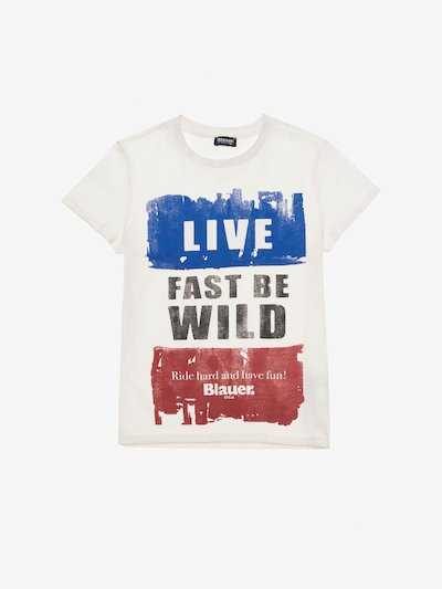 T-SHIRT JUNIOR LIVE FAST BE WILD