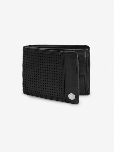 PERFORATED CALFSKIN WALLET WITH COIN PURSE
