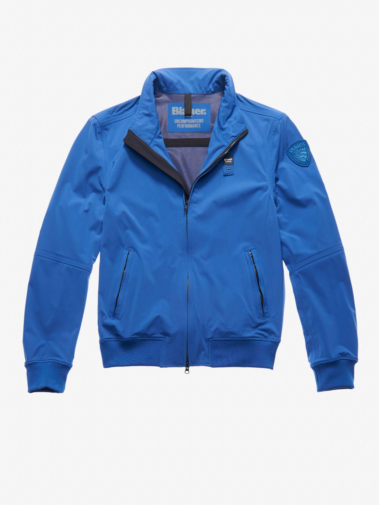 Blauer - MITCHELL NEOPRENE BOMBER-STYLE JACKET - Ultramarine Blue - Blauer